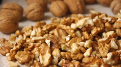 Walnut Kernels Panorama Stock Footage