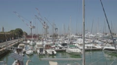 Harbor of Livorno in Italy Stock Footage