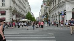 the Karntner Strasse in Vienna Stock Footage