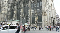 St. Stephan cathedral in Vienna Stock Footage