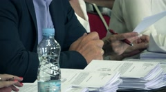 Business Meeting ,MPs in parliaments Stock Footage