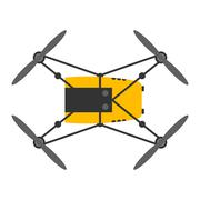 Drone quadcopter vector isolated Stock Illustration