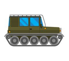 Military cross-country vehicle vector - stock illustration
