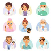 Doctors spetialists vector set - stock illustration