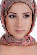 Portrait of white-skinned girl in a turban Stock Photos