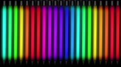 Rainbow Neon Tubes Animations Stock Footage