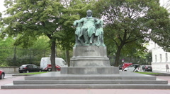 Goethe monument in Vienna Stock Footage