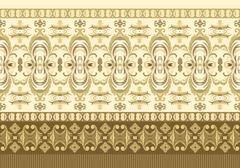 Striped seamless pattern. Floral wallpaper Stock Illustration