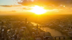 London city skyline sunset time lapse Stock Footage