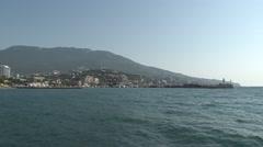 Embankment of Yalta Crimea Stock Footage