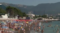Yalta beach Stock Footage