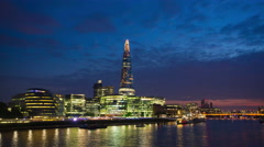 The Shard and London city hall Stock Footage