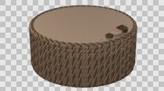 Round chocolate cream cake. 3D rendering. Stock Footage