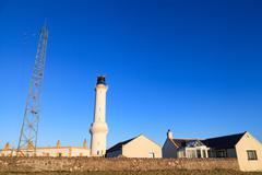 Girdleness Lighthouse in Aberdeen, Scotland Stock Photos