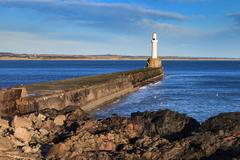 Lighthouse in Aberdeen, Scotland Stock Photos