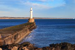 Lighthouse in Aberdeen, Scotland Stock Photos