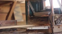Wood cutting machine Stock Footage