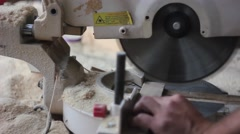 Miter saw saws Stock Footage