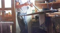 Worker prepares materials Stock Footage