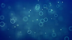 Animated motion background video - Blue bubbles and circles Stock Footage