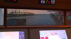 Maneuvers simulator. Port of Kaohsiung, Taiwan. Stock Footage