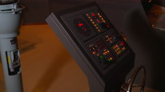 Controls in a ship maneuvers simulator. Port of Kaohsiung, Taiwan. Stock Footage