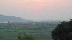 Africa sunrise Stock Footage