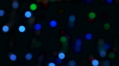 Blue, green, red, colorful blurred, bokeh lights background Stock Footage