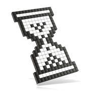 Hourglass mouse cursor. 3D Stock Illustration