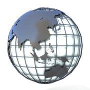 Polygonal style illustration of earth globe, Asia and Oceania view Stock Illustration