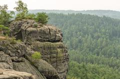 Sandstone rocks in the bohemian paradise region of the Czech republic Stock Photos