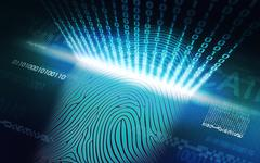 The system of fingerprint scanning - biometric security devices Stock Illustration