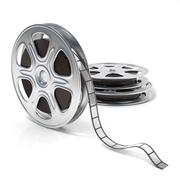 Film reels. Video icon. 3D Piirros