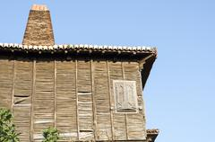 Classic dwelling at old town Sozopol Stock Photos