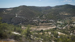 Landscapes in Cyprus. Awecome view from the top of the mountain Stock Footage