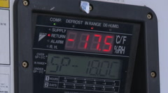 Screen of a refrigerated container. Used the temperature sensitive cargo. Stock Footage