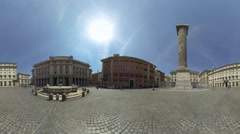 Piazza Colonna is a piazza at the center of Rome, Italy 360 video Stock Footage