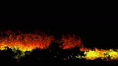 Fire and Flame Effect - Wall of Flames on Black Stock Footage