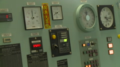 Navigation elements inside of the bridge of a cargo ship. Stock Footage