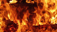 Piano on fire musical instrument Stock Footage