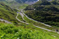 Sustenstrasse pass in Alsp Stock Photos