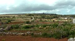 View of Malta field Stock Footage