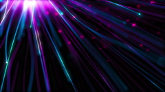 Flow glowing particles with colorful trails Stock Footage