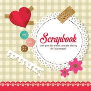 Design of Scrapbook icons, vector design Stock Illustration