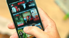 Netflix App on Apple iPhone 6 Stock Footage