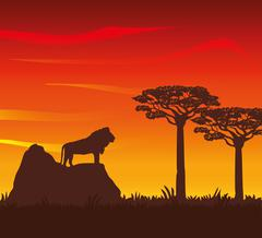 Flat illustration about africa design Stock Illustration