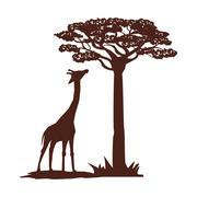 Flat illustration about africa design Stock Illustration