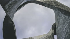 Sky and Futuristic Structure Stock Footage