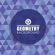 Geometry blue background, vector design Stock Illustration