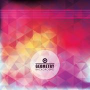 Geometry multicolored background, vector design Stock Illustration